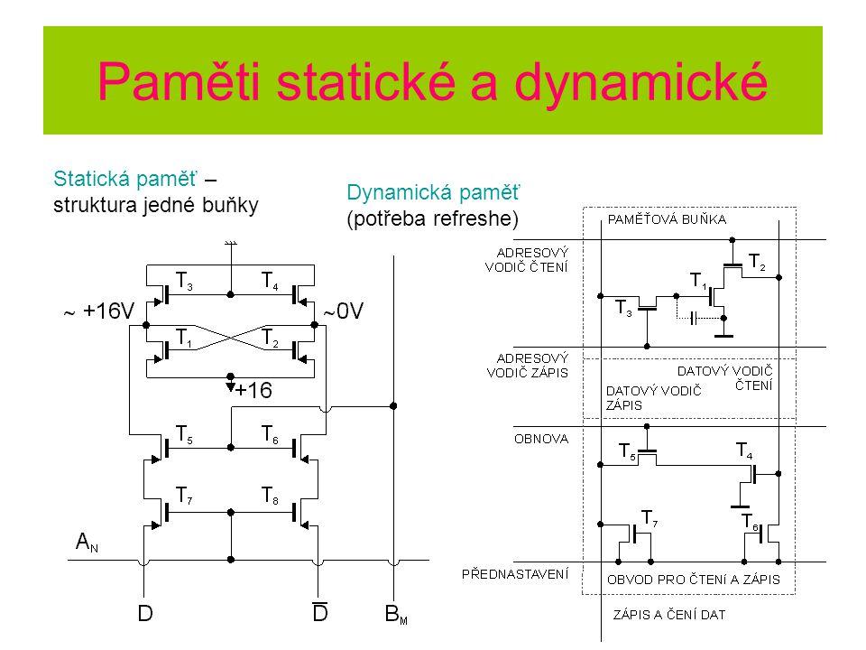 Paměti statické a dynamické