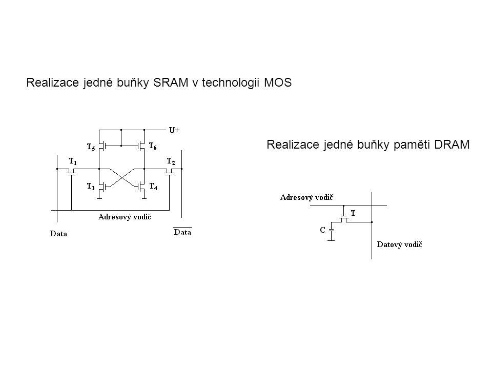 Realizace jedné buňky SRAM v technologii MOS