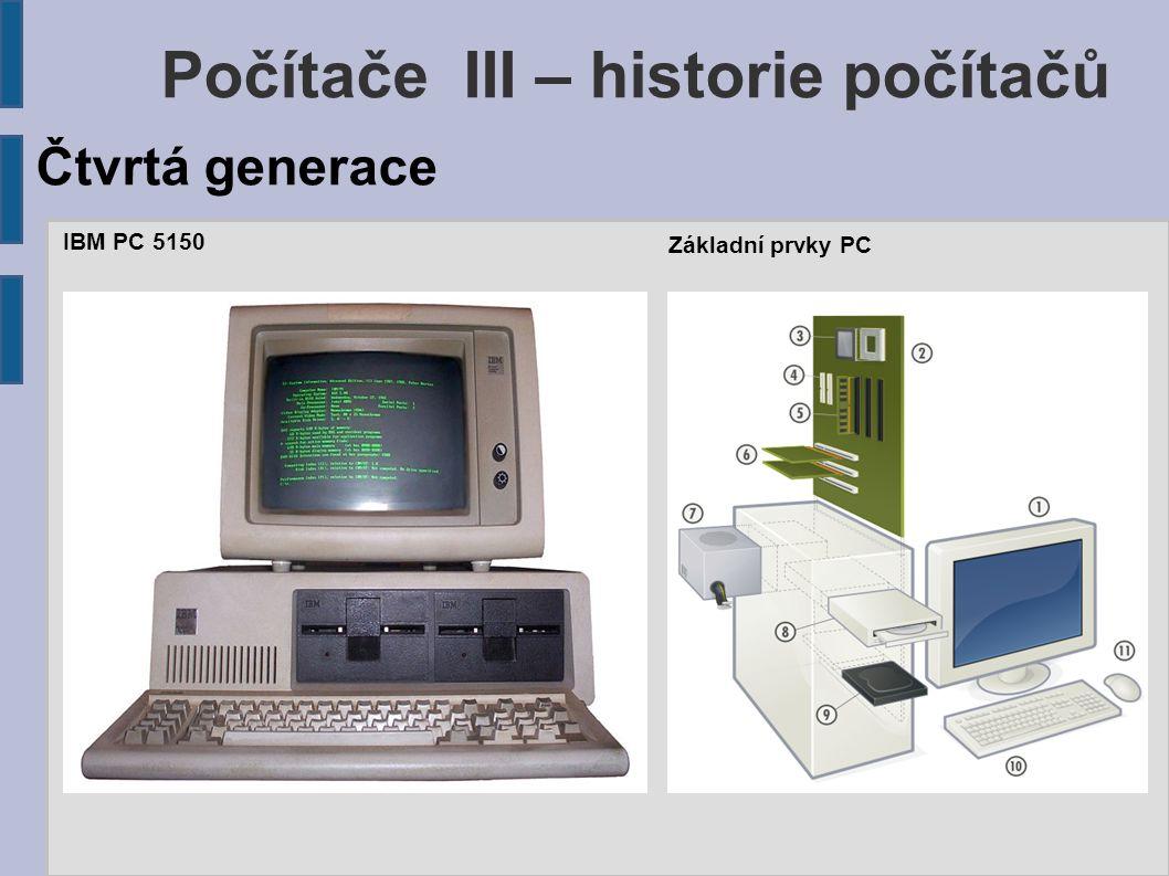 Počítače III – historie počítačů