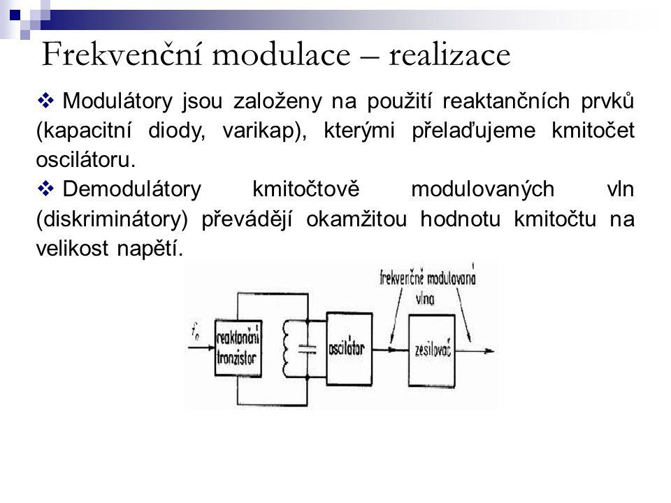 Frekvenční modulace – realizace