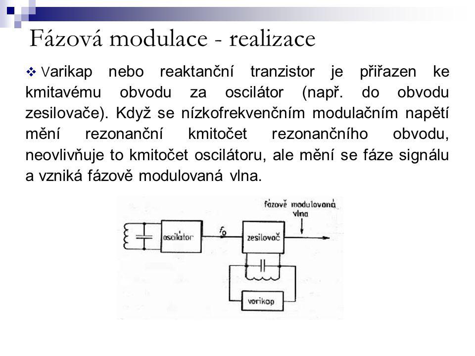 Fázová modulace - realizace