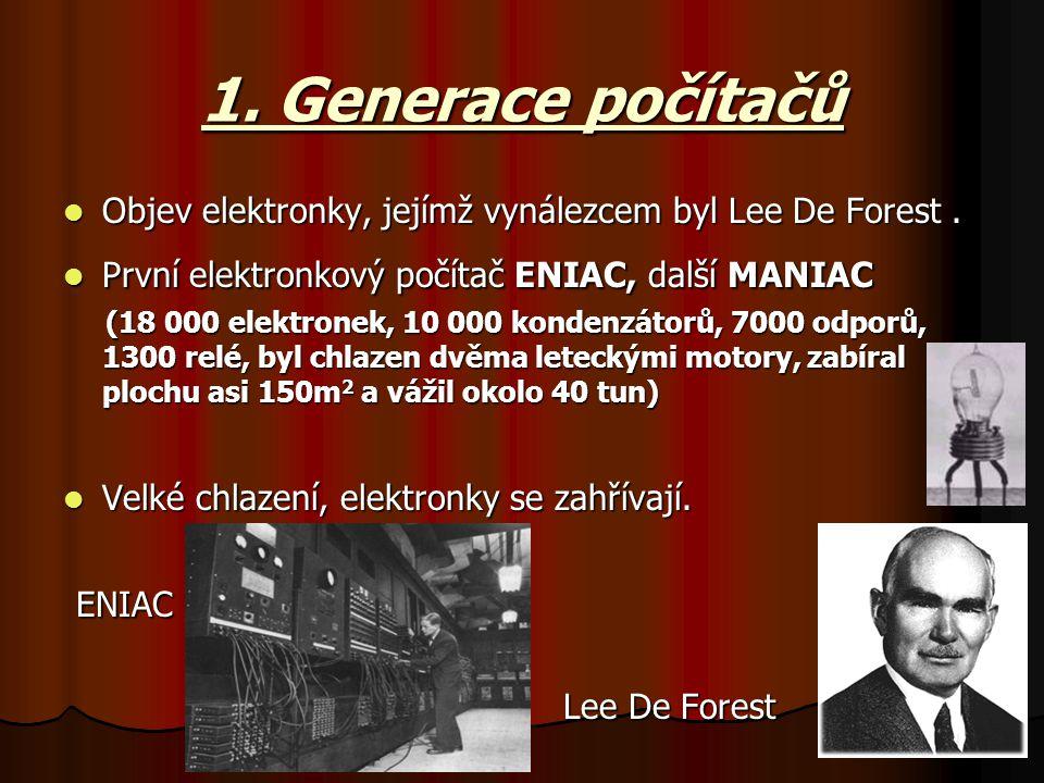 1. Generace počítačů ENIAC