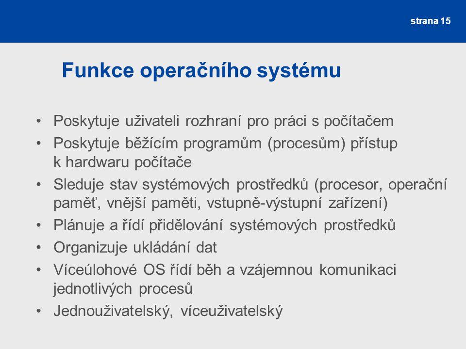 Funkce operačního systému