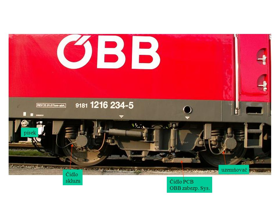 písek uzemňovač Čidlo skluzu Čidlo PCB OBB zabezp. Sys.