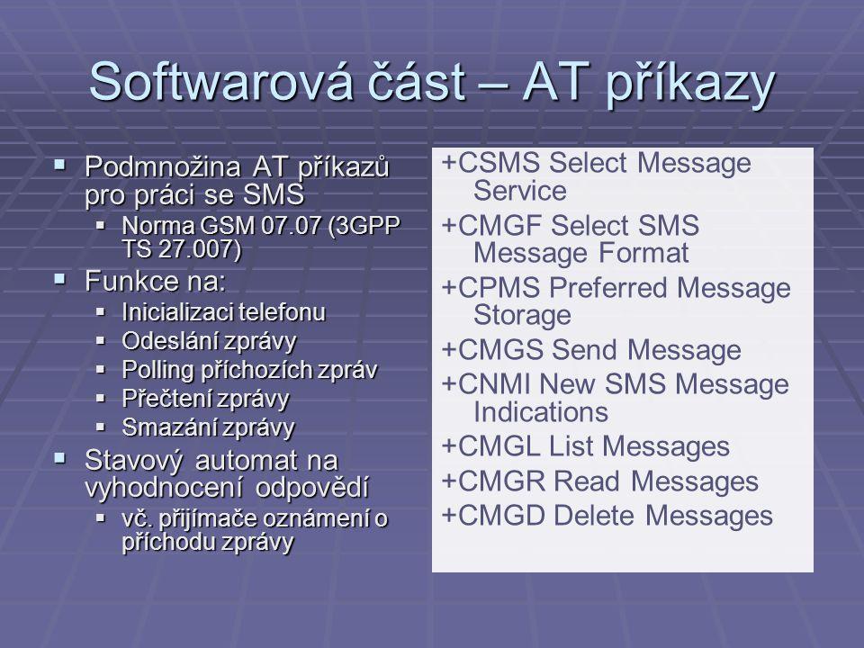 Softwarová část – AT příkazy