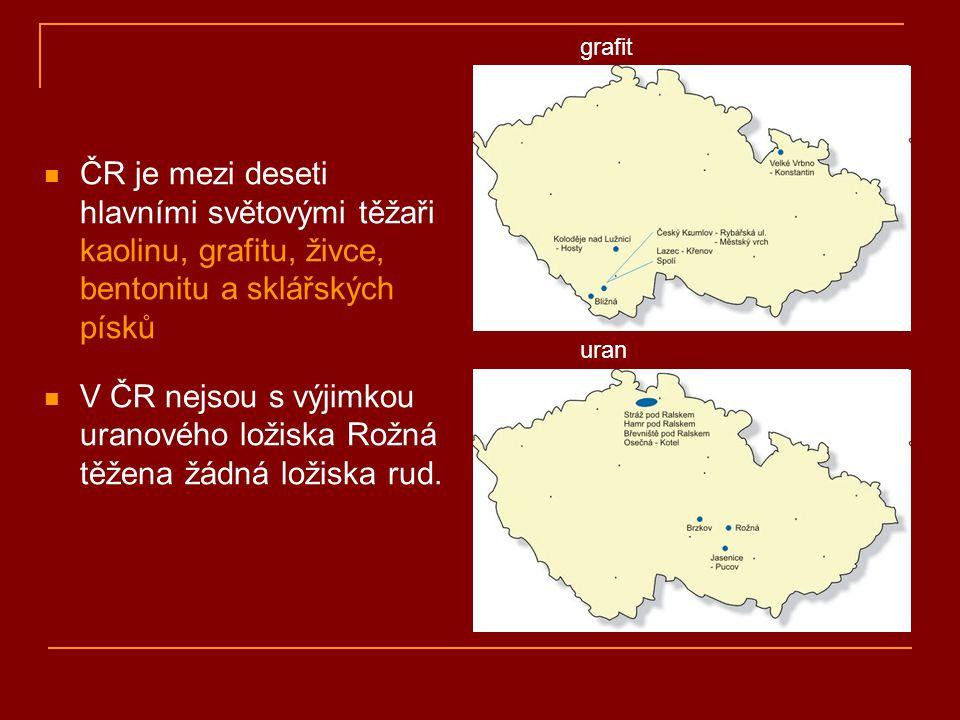 grafit ČR je mezi deseti hlavními světovými těžaři kaolinu, grafitu, živce, bentonitu a sklářských písků.