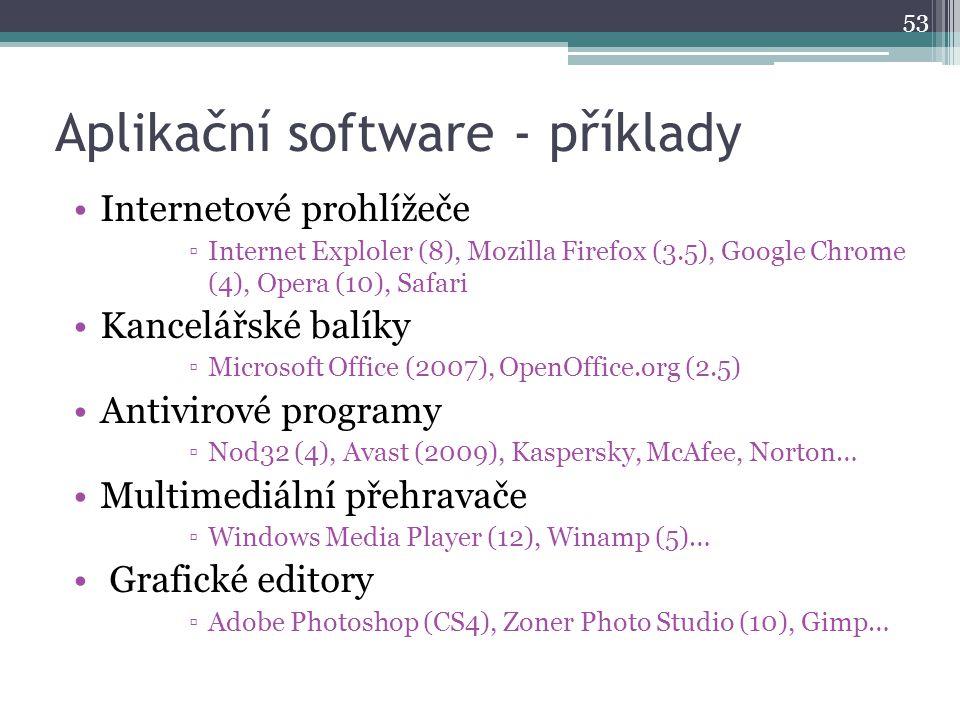 Aplikační software - příklady