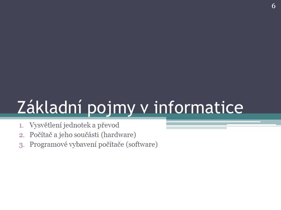 Základní pojmy v informatice