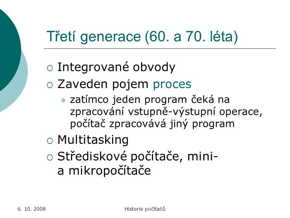 Třetí generace (60. a 70. léta)
