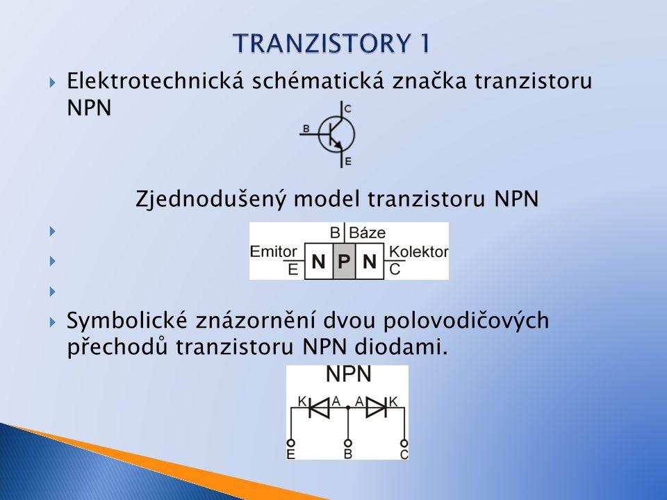 Zjednodušený model tranzistoru NPN