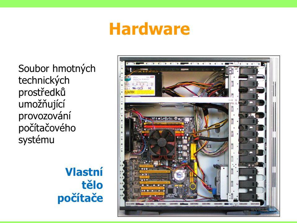 Hardware Vlastní tělo počítače