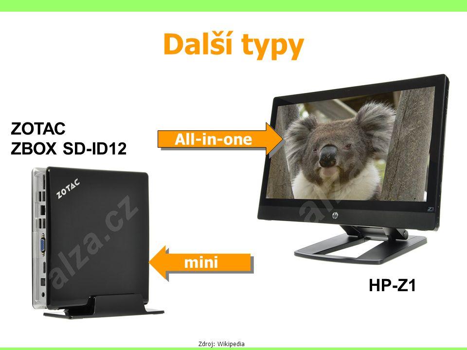 Další typy ZOTAC ZBOX SD-ID12 All-in-one mini HP-Z1 Zdroj: Wikipedia