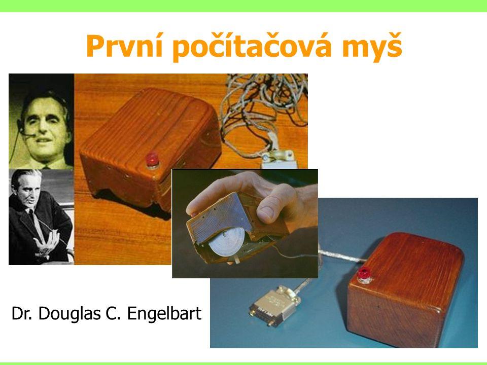 První počítačová myš Dr. Douglas C. Engelbart