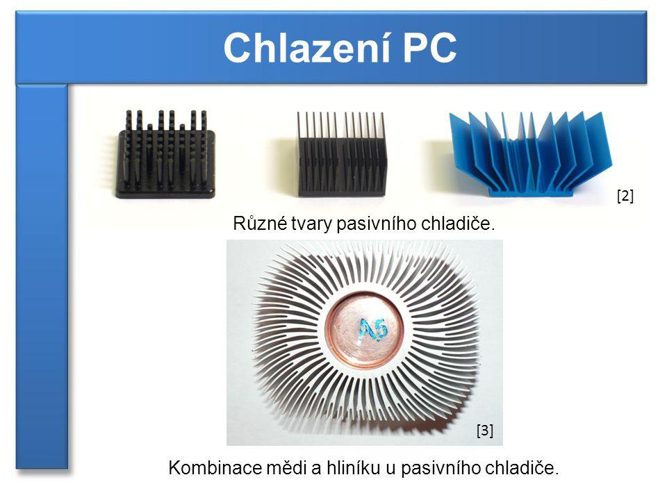 Chlazení PC Různé tvary pasivního chladiče.