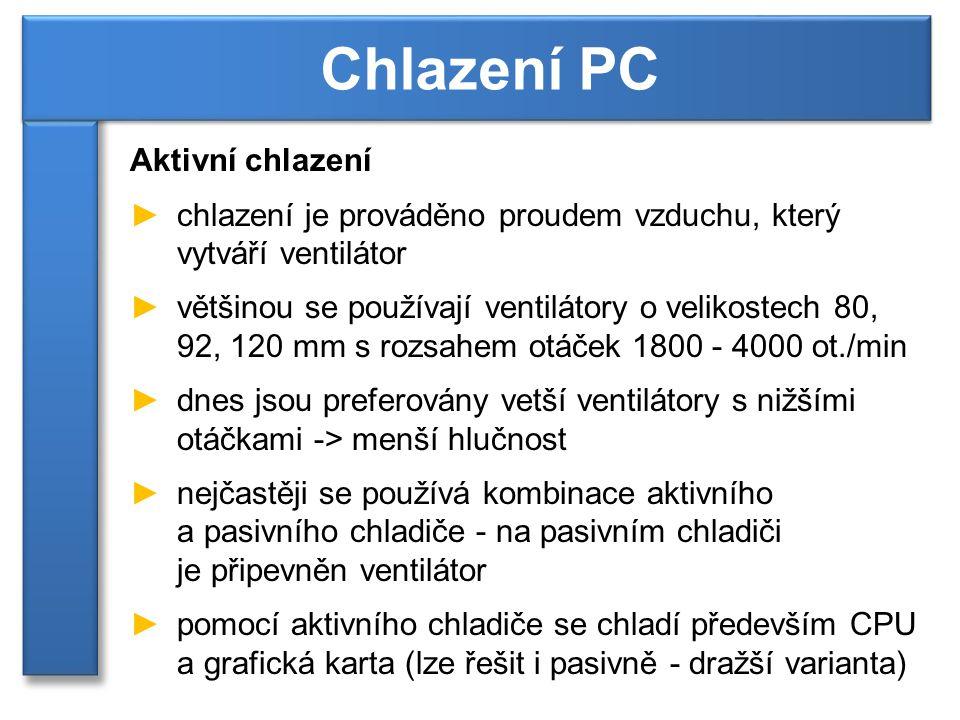 Chlazení PC Aktivní chlazení