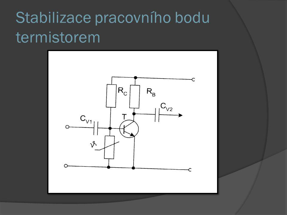 Stabilizace pracovního bodu termistorem