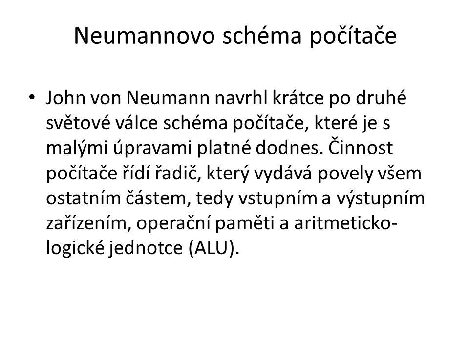 Neumannovo schéma počítače