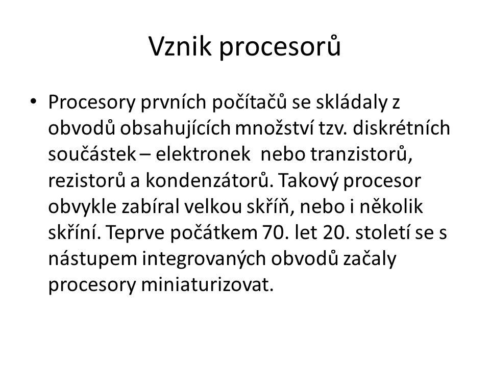 Vznik procesorů