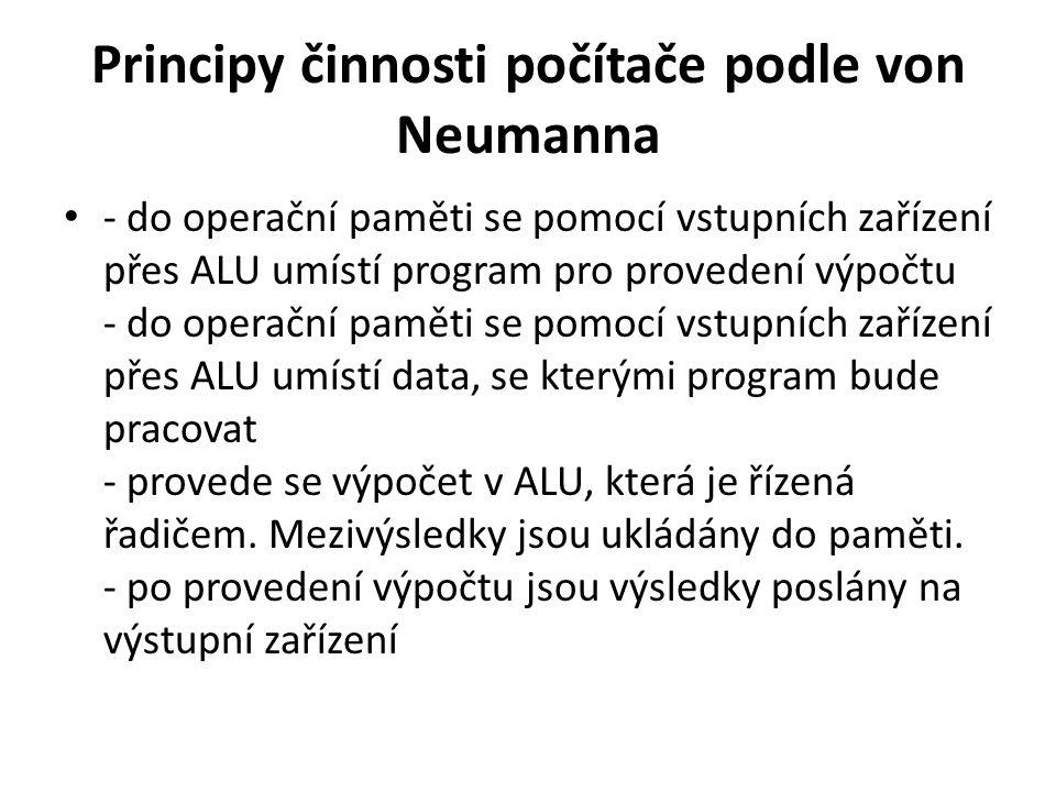 Principy činnosti počítače podle von Neumanna