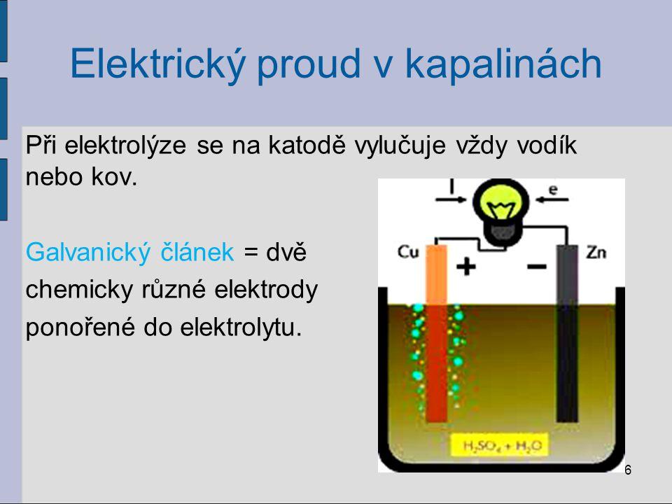 Elektrický proud v kapalinách