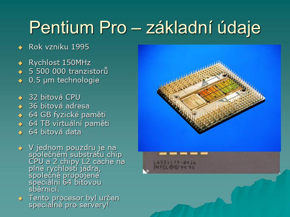 Pentium Pro – základní údaje
