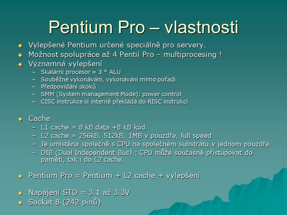 Pentium Pro – vlastnosti