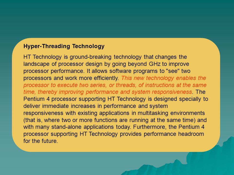 Hyper-Threading Technology