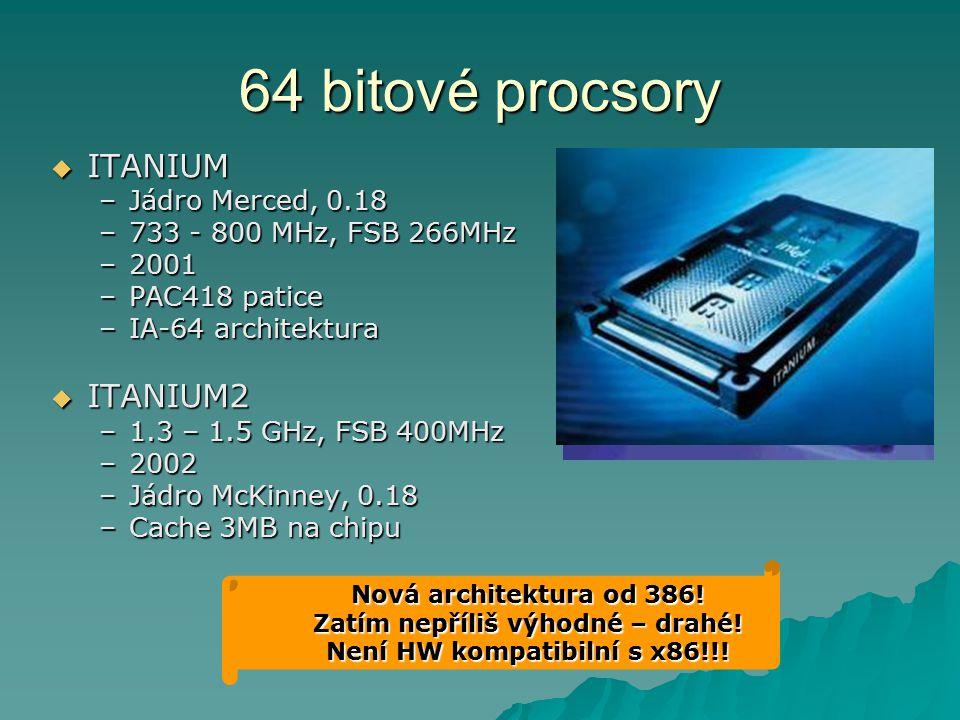 Zatím nepříliš výhodné – drahé! Není HW kompatibilní s x86!!!