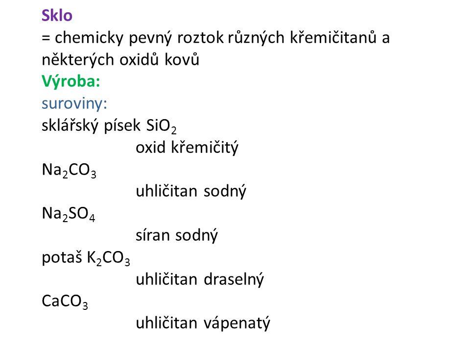 = chemicky pevný roztok různých křemičitanů a některých oxidů kovů