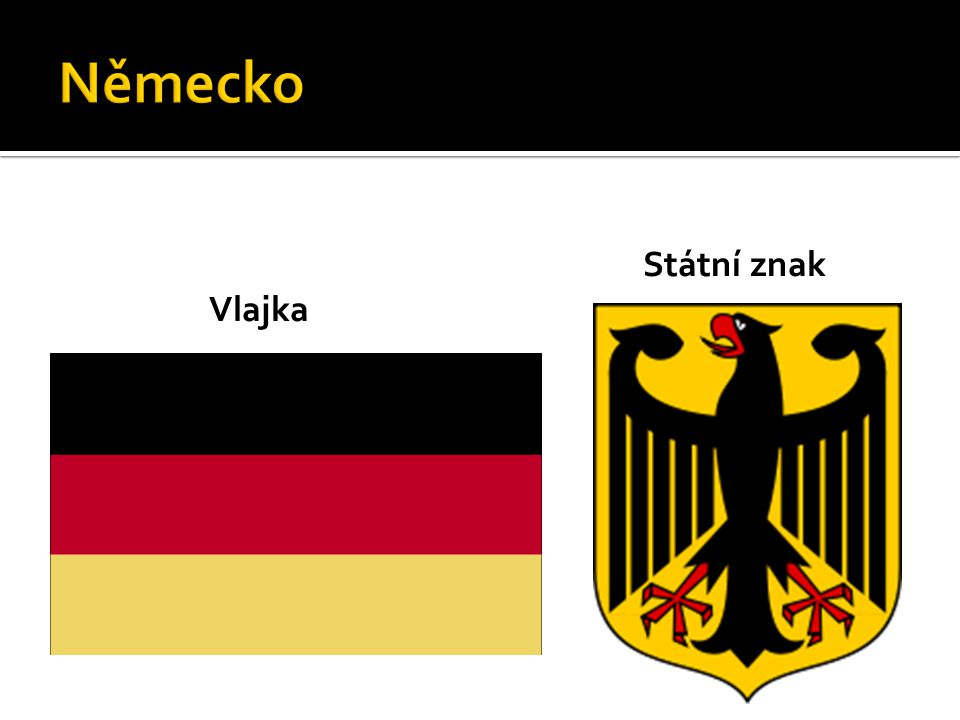 Německo Státní znak Vlajka