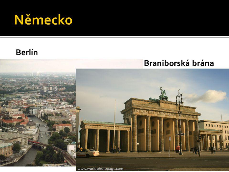 Německo Berlín Braniborská brána