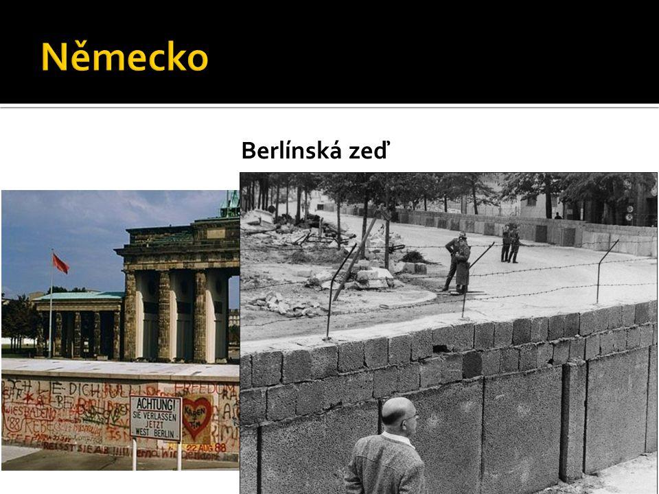 Německo Berlínská zeď