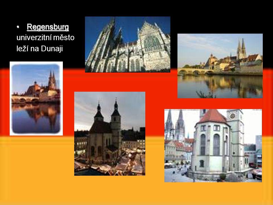 Regensburg univerzitní město leží na Dunaji