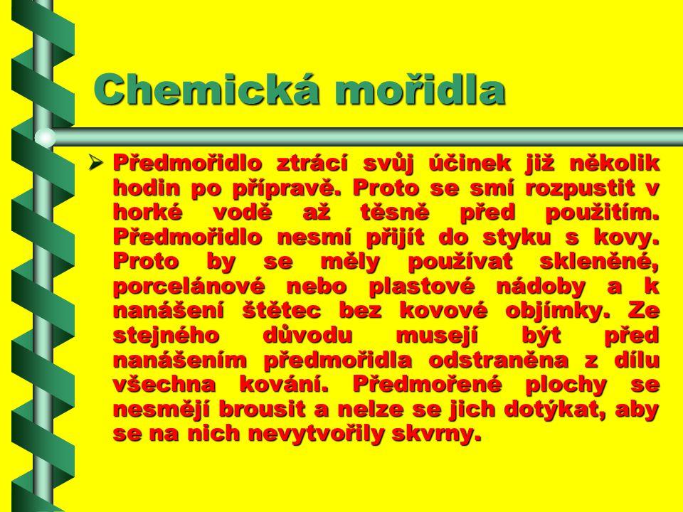 Chemická mořidla