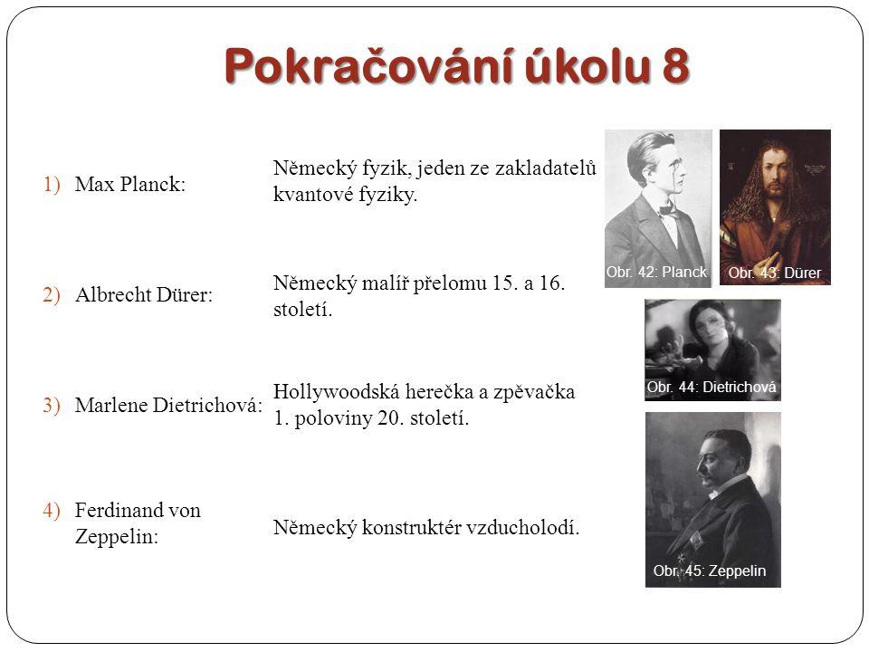 Pokračování úkolu 8 Max Planck: