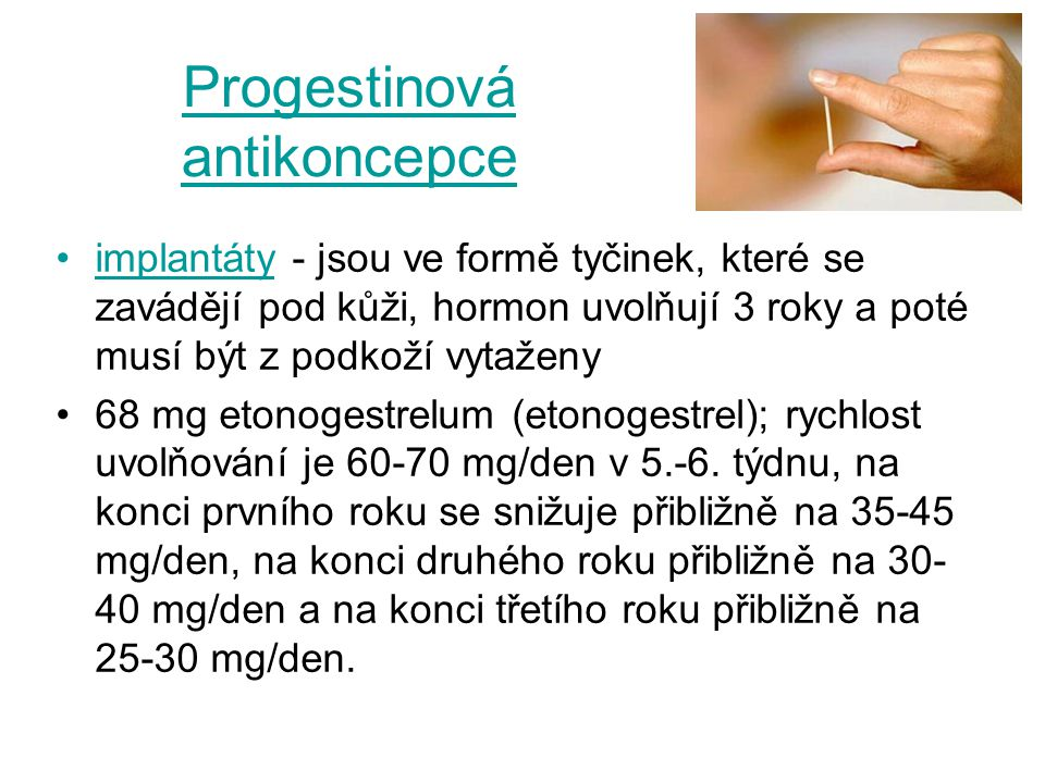 Progestinová antikoncepce