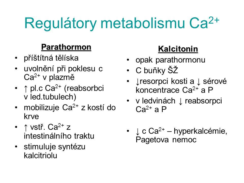Regulátory metabolismu Ca2+