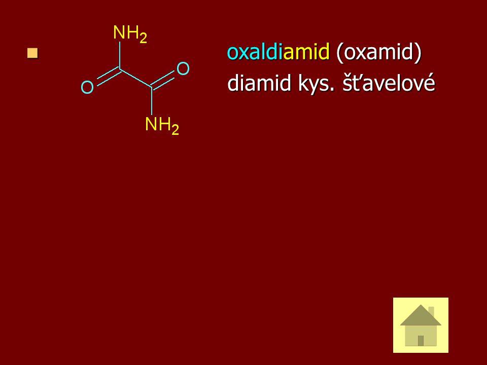 oxaldiamid (oxamid) diamid kys. šťavelové