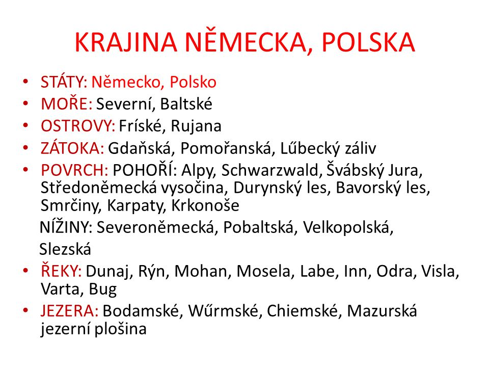 KRAJINA NĚMECKA, POLSKA