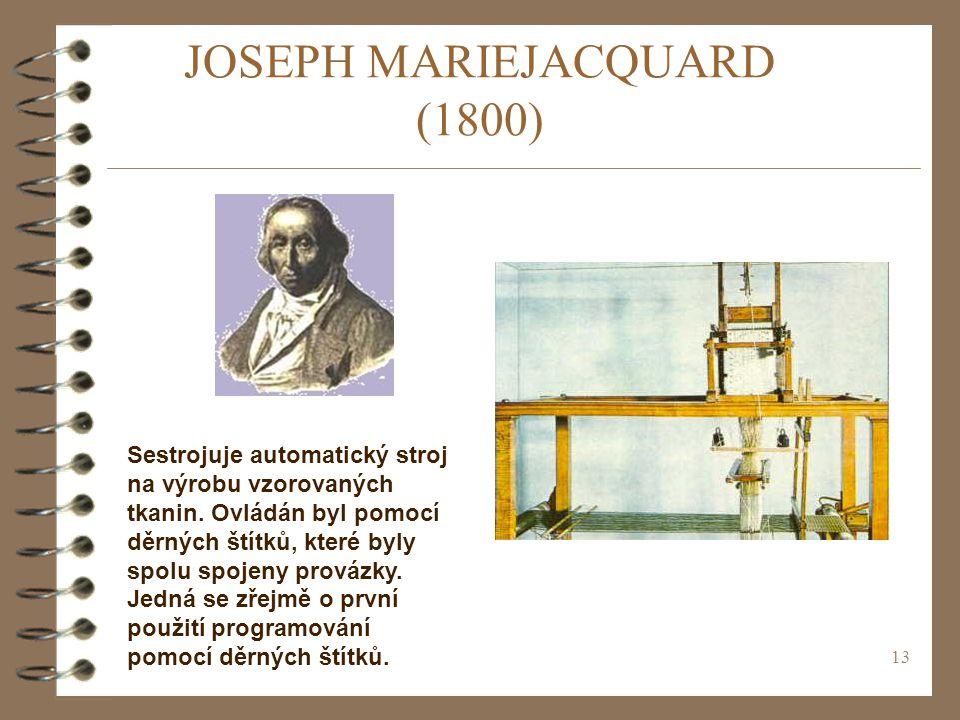 JOSEPH MARIEJACQUARD (1800)