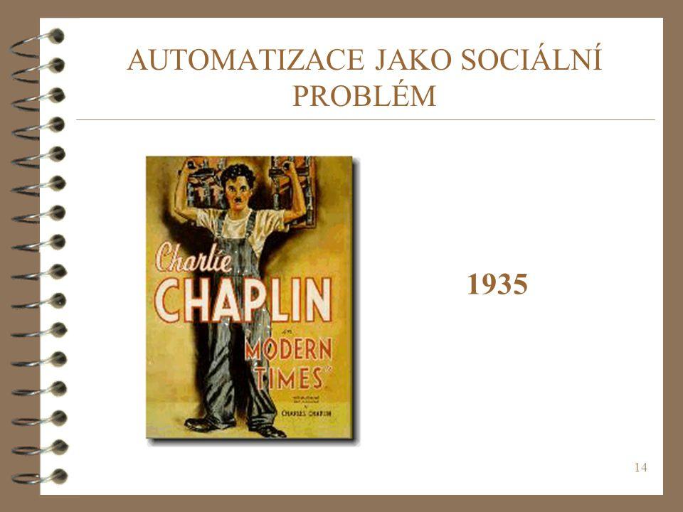 AUTOMATIZACE JAKO SOCIÁLNÍ PROBLÉM