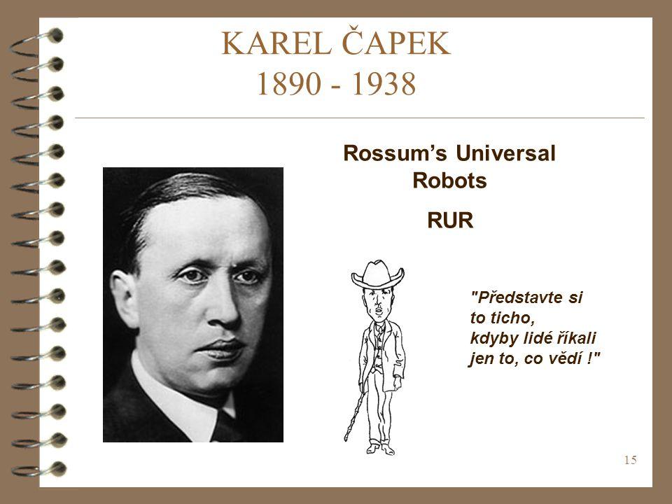 Rossum's Universal Robots