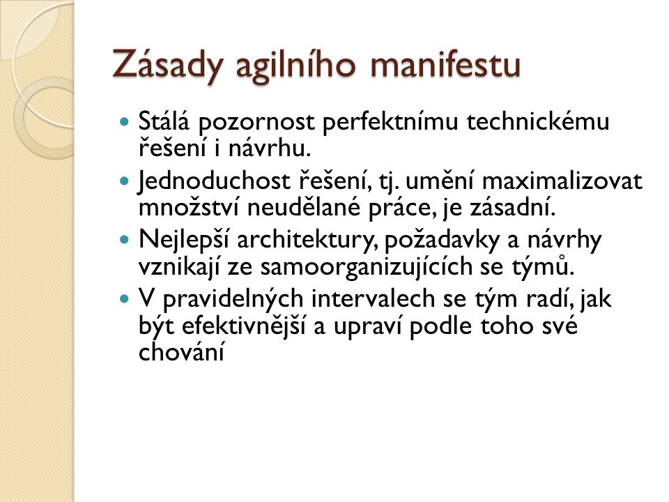 Zásady agilního manifestu