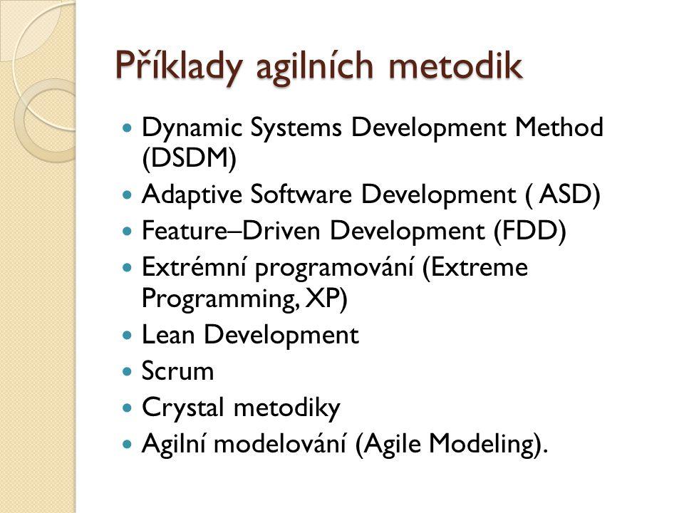 Příklady agilních metodik