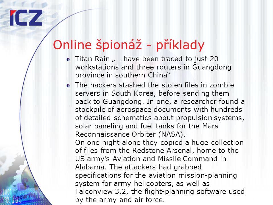 Online špionáž - příklady