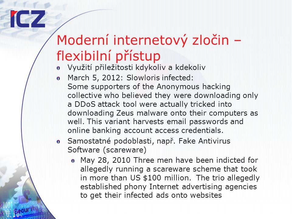 Moderní internetový zločin – flexibilní přístup