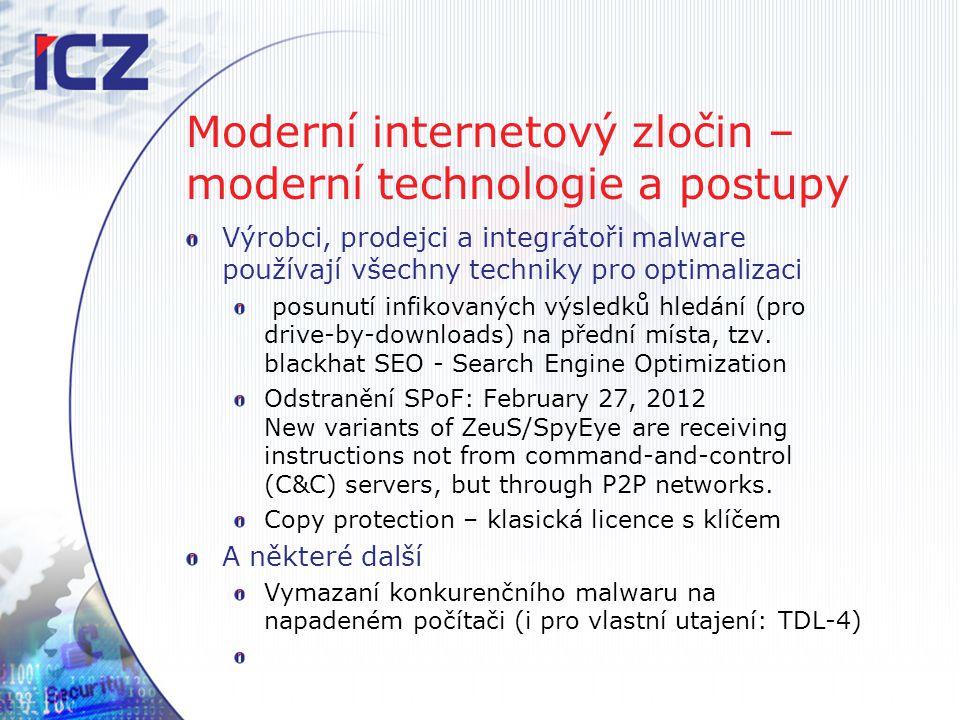 Moderní internetový zločin – moderní technologie a postupy