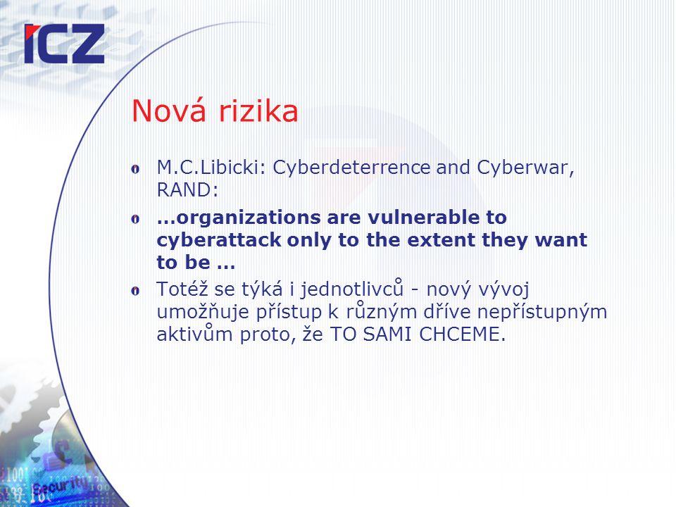 Nová rizika M.C.Libicki: Cyberdeterrence and Cyberwar, RAND: