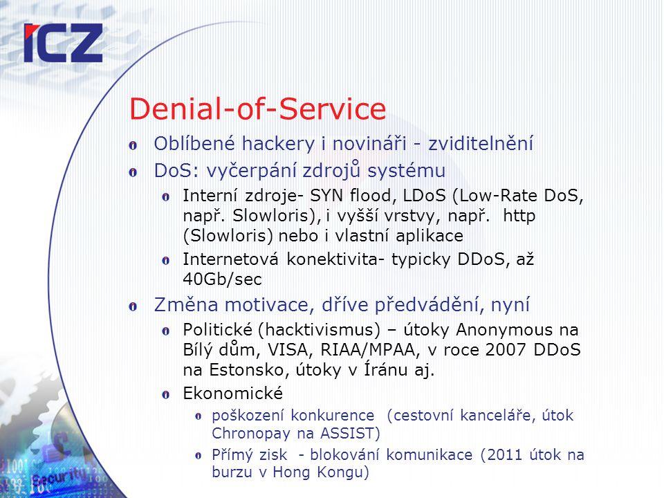 Denial-of-Service Oblíbené hackery i novináři - zviditelnění