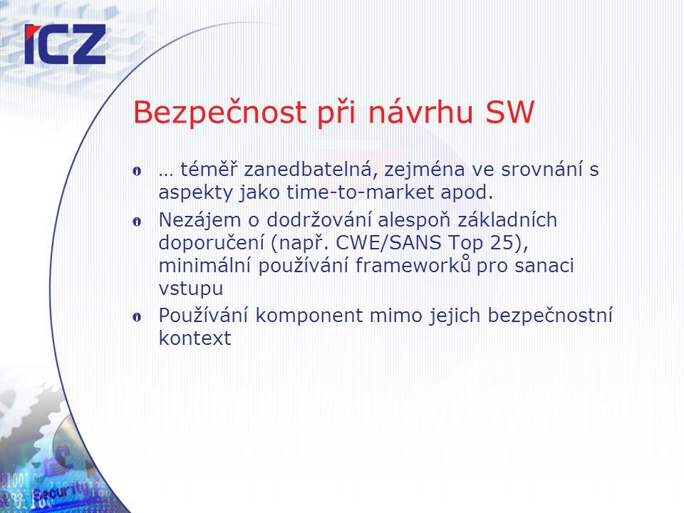 Bezpečnost při návrhu SW